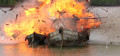 Dua Kapal Nelayan Eks Malaysia di Ledakkan