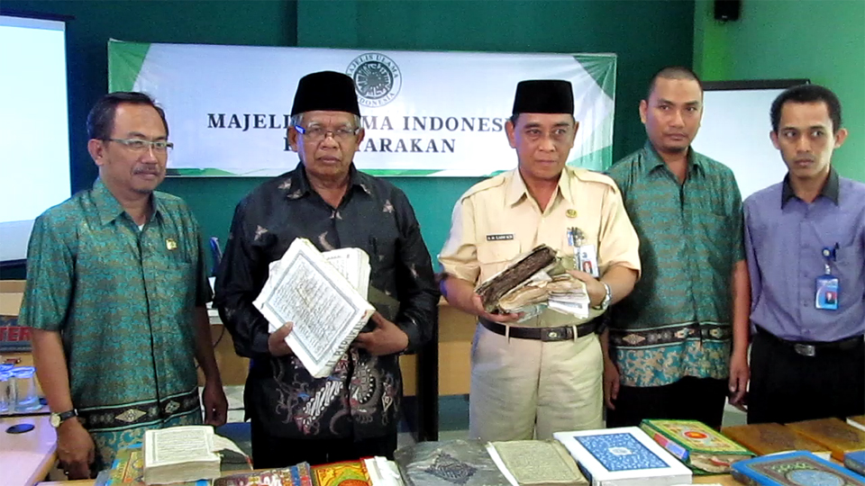 Al-quran saat dikumpulkan di kantor MUI Tarakan