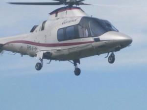 Helikopter Malaysia 9M-YMH mendarat tanpa izin di Pulau Sebatik.
