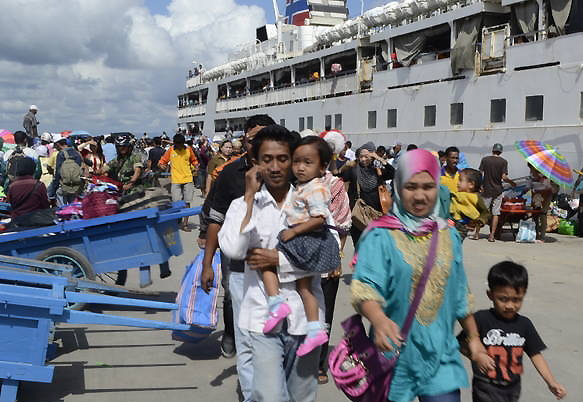 Deportasi TKI melalui Kabupaten Nunukan.