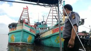 Salah satu kapal asing yang pernah ditangkap Ditpolair Polda Kalbar