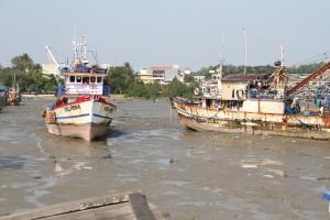 Kondisi kapal asing asal Filipina yang telah diamankan di Mako Lantamal XIII Kota Tarakan.