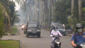 Kabut asap yang menyelimuti kota Pontianak