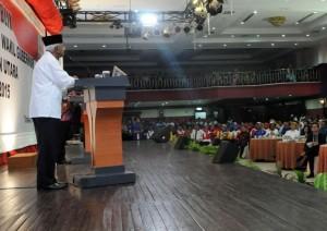 Ribuan mata di Hotel Tarakan Plaza turut menyaksikan program Kaltara Setara 2045 yang disampaikan dr. Jusuf SK.