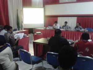 Rapat Koordinasi Debat Kandidat yang digelar KPU Kaltara bersama perwakilan paslon berjalan alot.