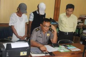 Sejumlah tersangka dan barang bukti yang diamankan Polres Tarakan pada Operasi Antik, belum lama ini.