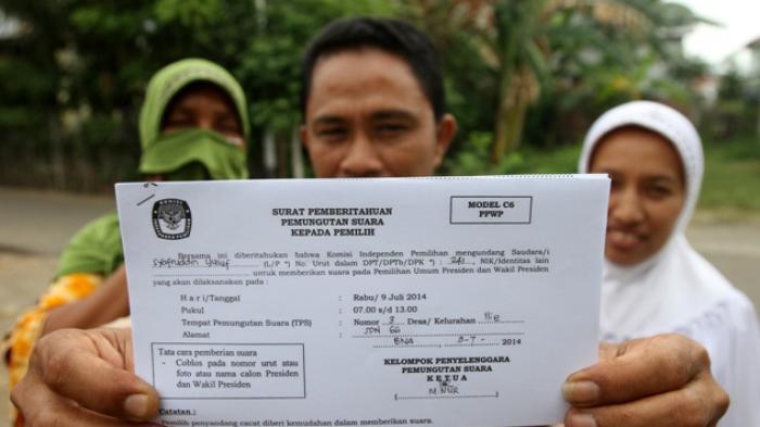 Formulir C6 atau surat panggilan pemilih.