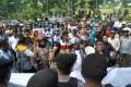 Ratusan Massa Kecewa, Komisioner Panwaslih dan KPU Tarakan Tak Keluar