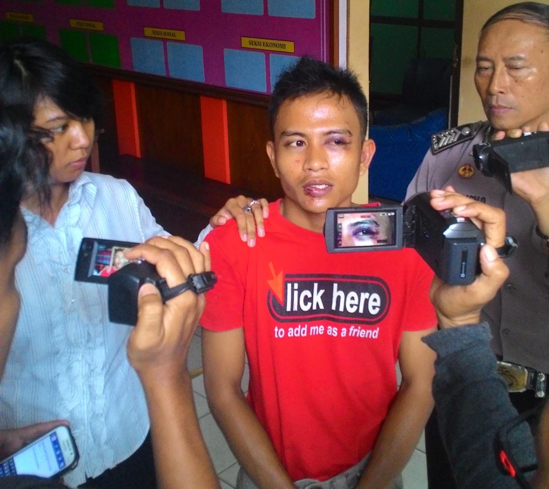 HD (24) warga Karet Mandiri, pelaku pencopetan di Stadion Sultan Syarif Abdurrahman, belum lama ini.