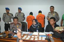Jumpa pers yang digelar Polres Tarakan dalam kasus pengungkapan sabu-sabu oleh Pemuda Kota Tarakan.