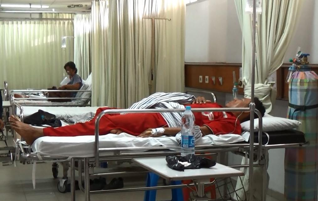 Salah satu petugas SPBU yang menjadi korban ledakan pagi tadi. (aline)