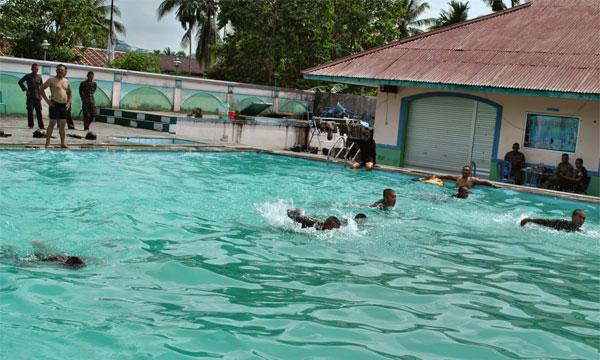 Kolam renang dan gedung wisma patra aset Pemkot Tarakan yang masih dikelolah Perusda.