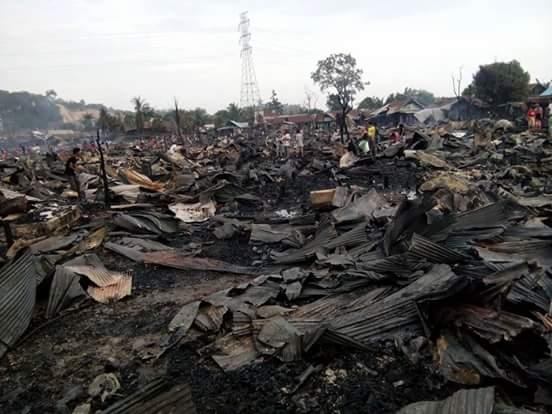 Sisa-sisa puing kebakaran 400 rumah di Karang Asem Samarnda