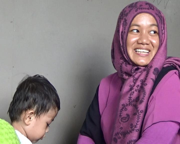 Megawati istri Ismail ABK yang berhasil lolos dari sekapan kelompok separatis Filipina.